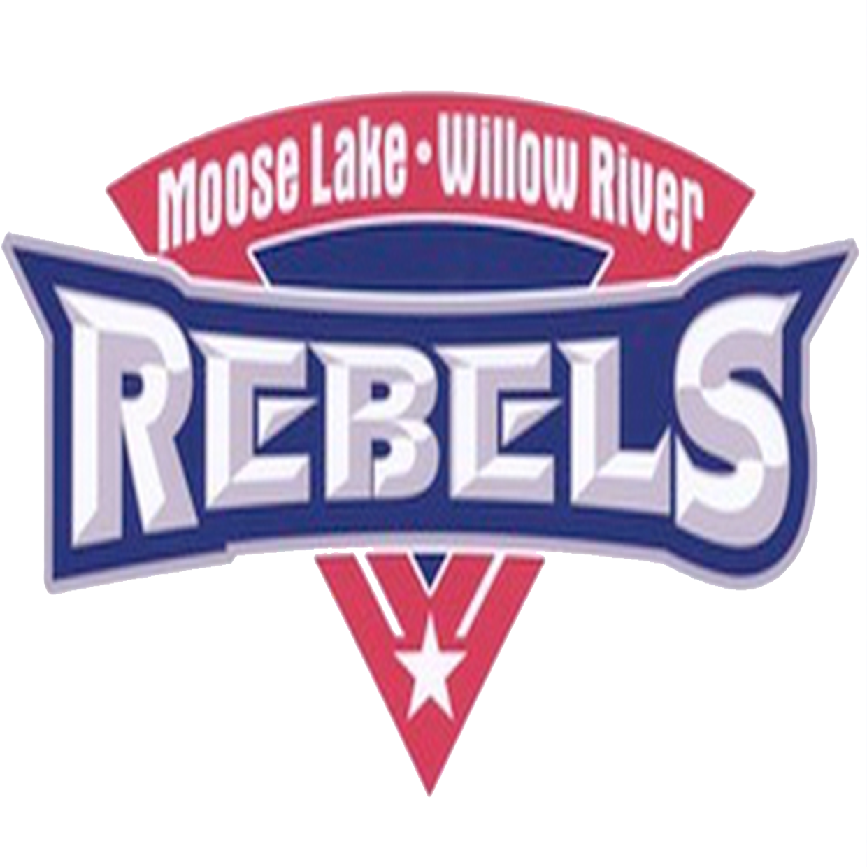 Moose lake willow river  mn  rebels logo