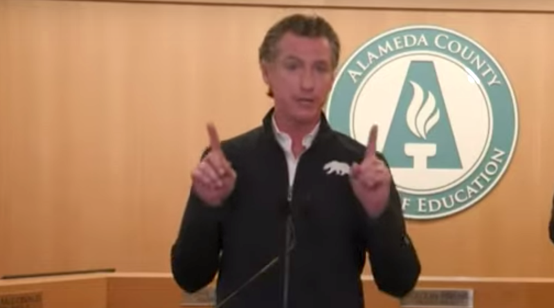 gavin newsom youth sports