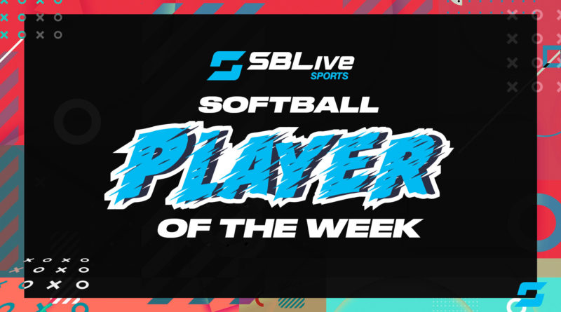 sblive softball player of the week