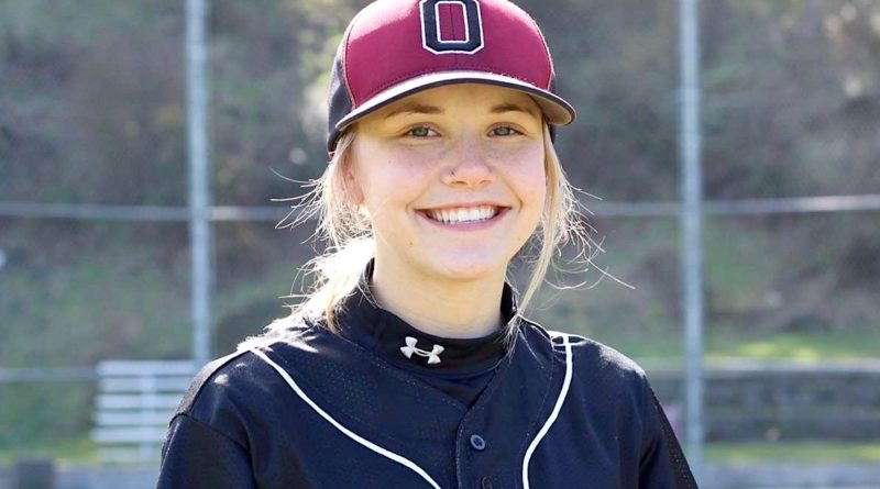 K.J. Hopfer, Ocosta softball player is playing baseball. She is signed at San Diego.