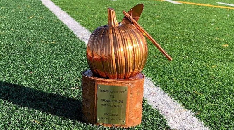 pumpkin trophy - catholic memorial vs. boston college prep