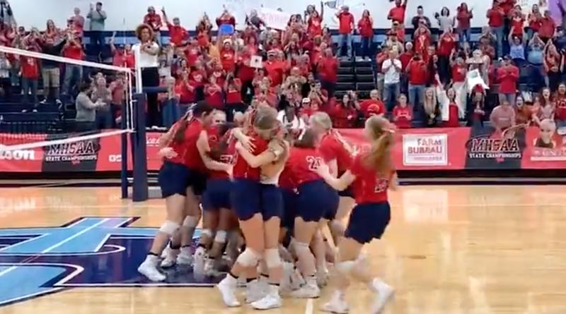 belmont wins MHSAA volleyball title